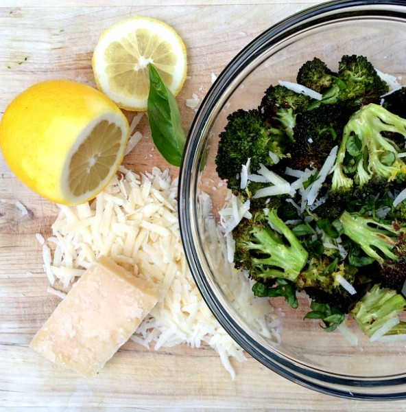 Lemon Parmesan Roasted Broccoli