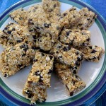 Chock full of nutritional goodness, these no bake bars are a cinch to make and even easier to eat.