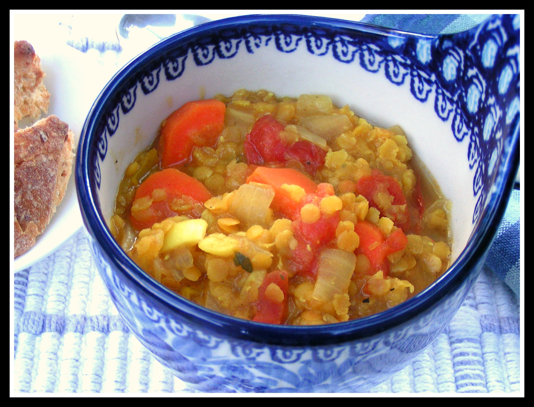 Curry Red Lentil Stew With Tomatoes Recipe — Dishmaps