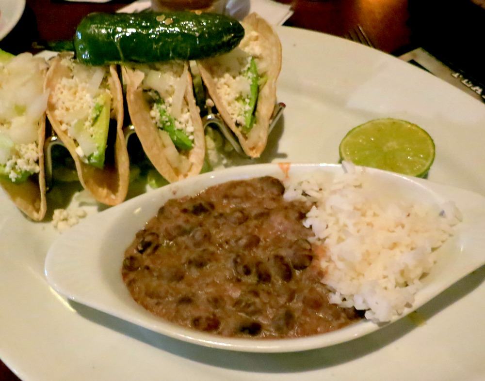 Bar Louie Tacos with Rice and Beans