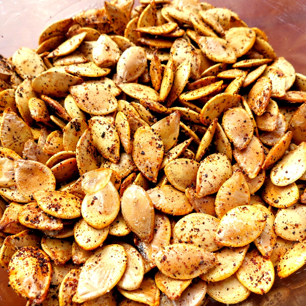 Cajun Roasted Acorn Squash Seeds