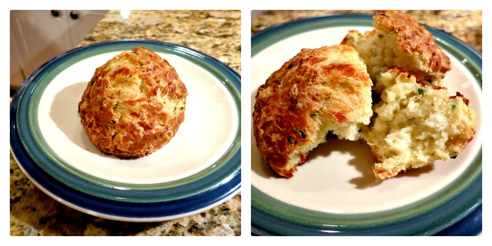 Cheese and Chive Scone Collage