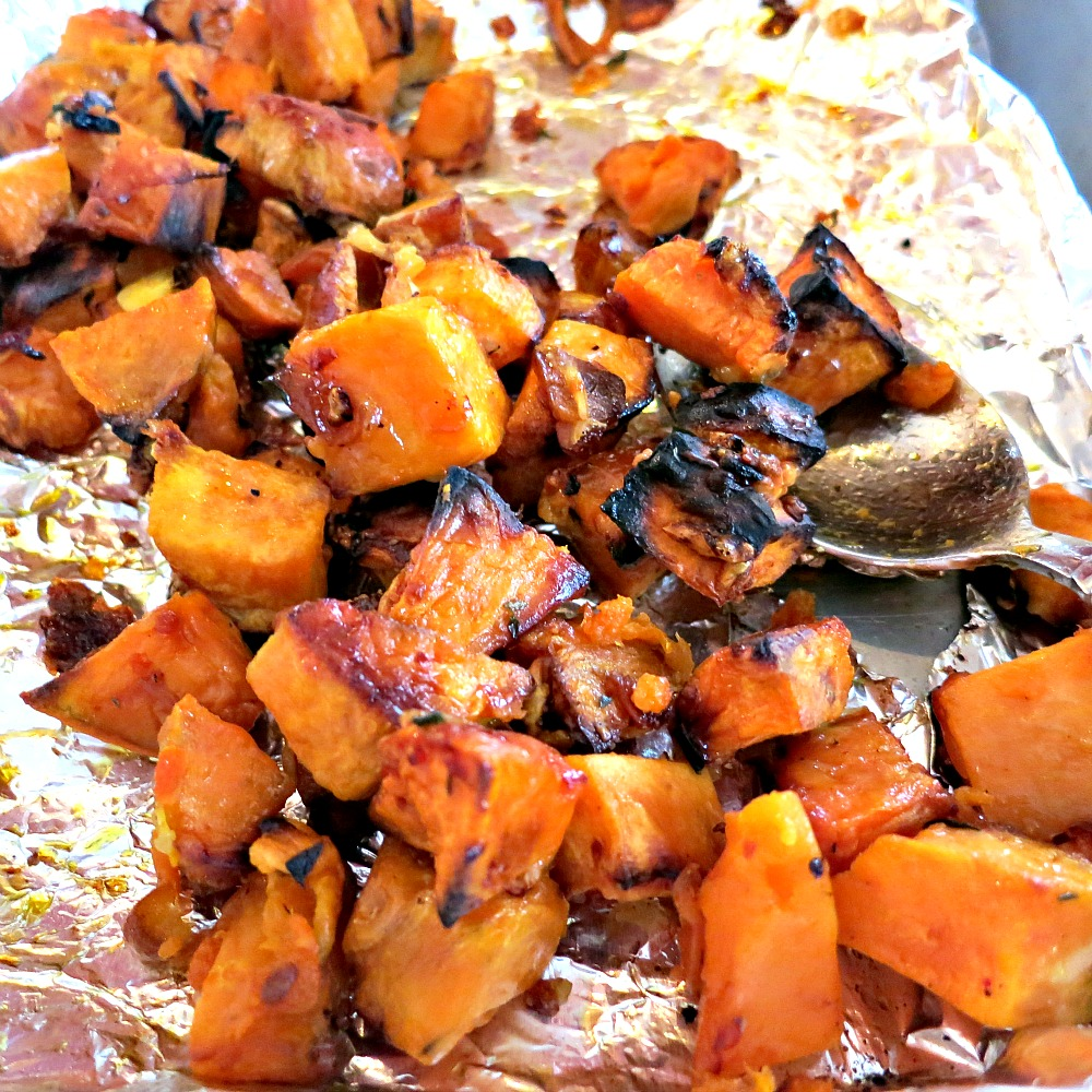 Parmesan Roasted Sweet Potatoes