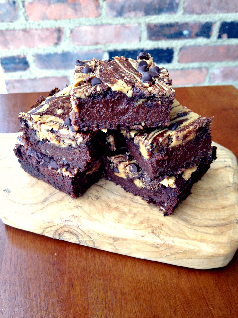 Chocolate Peanut Butter Swirl Brownie