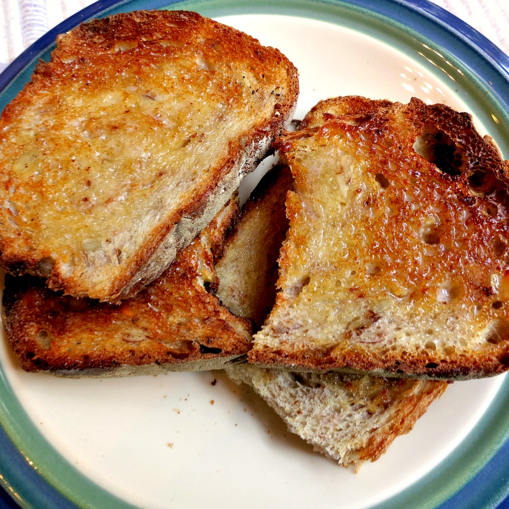 Toasted Granola Bread with Butter