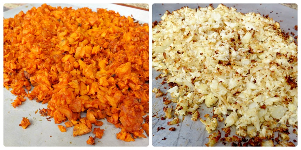 Roasted Sweet Potato and Cauliflower Collage