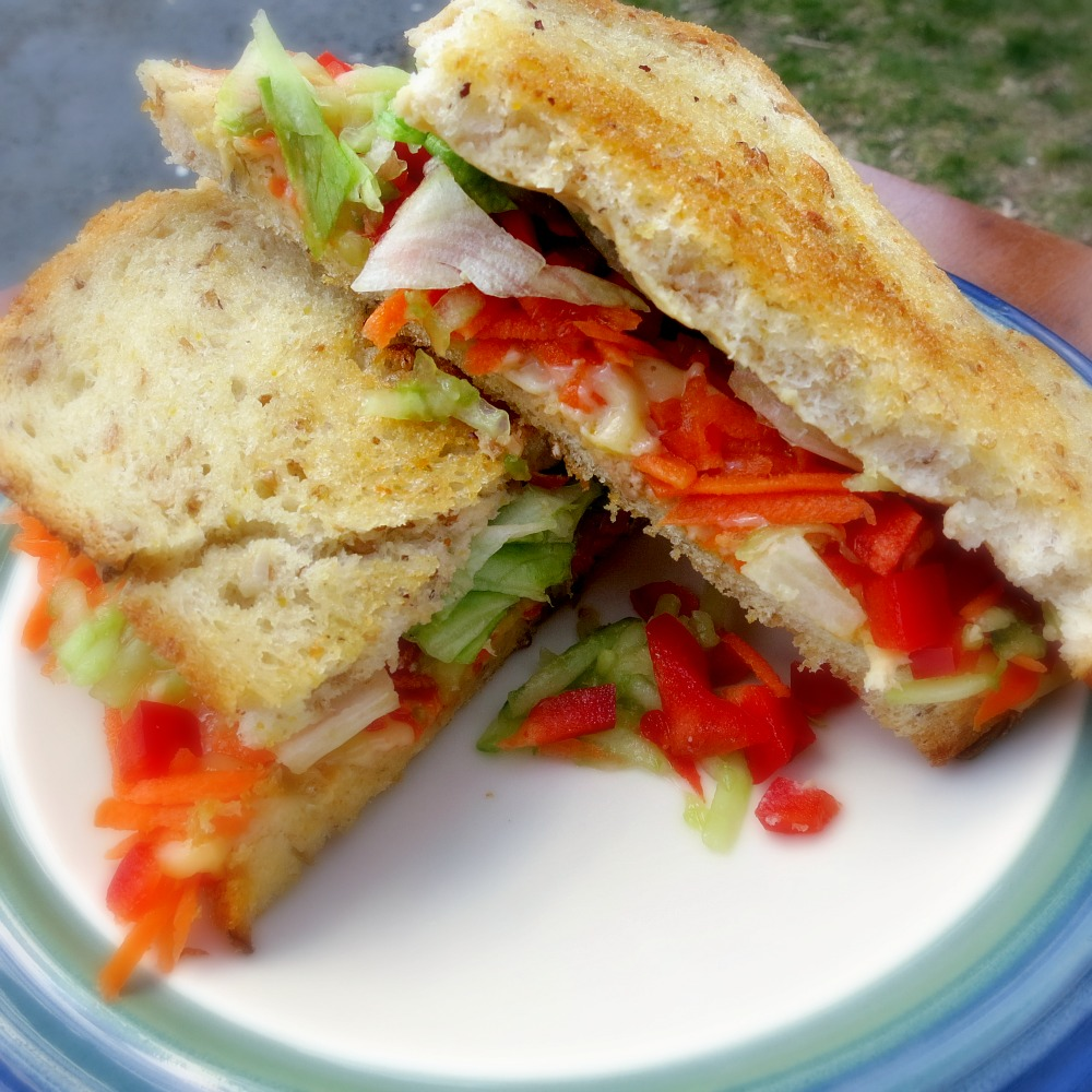 Veggie Packed Grilled Cheese