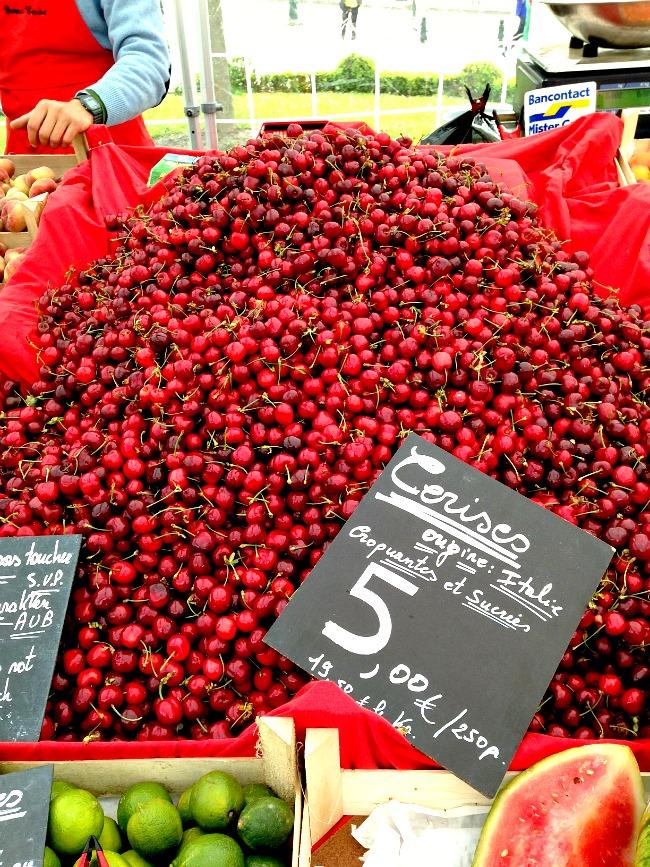 Belgium Farmers Market Cherries