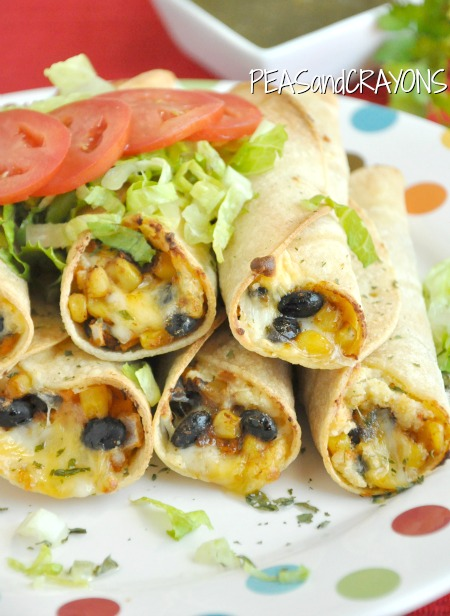 Peas and Crayons Black Bean and Sweet Potato Flautas