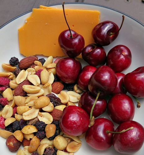 Cheese, Cherries and Trail Mix