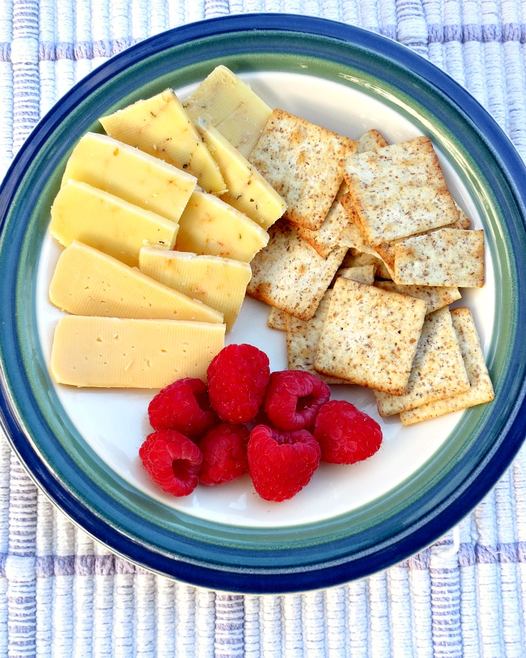 Cheese Plate with Raspberries