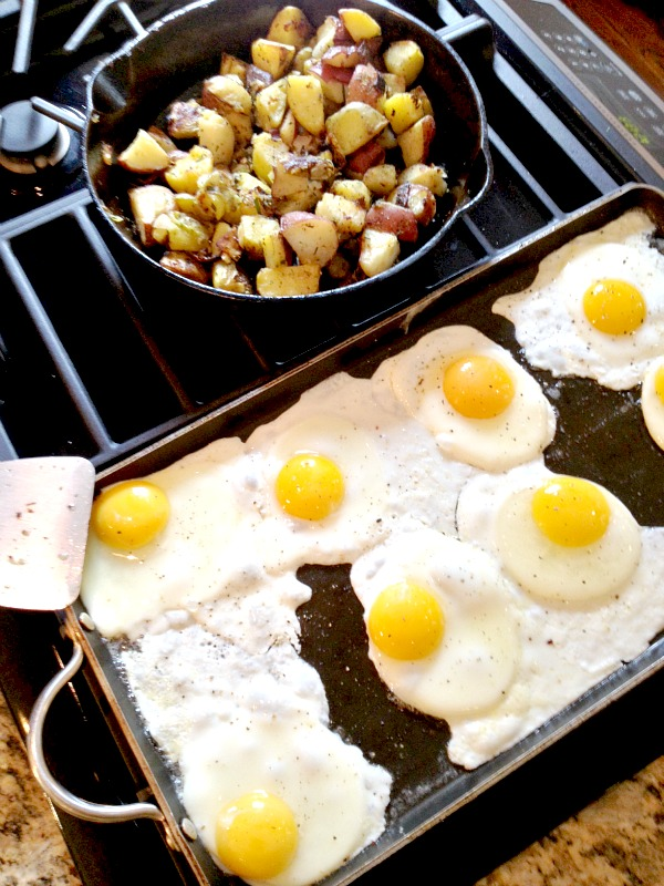 Fried Eggs and Rosemary Roasted Potatoes