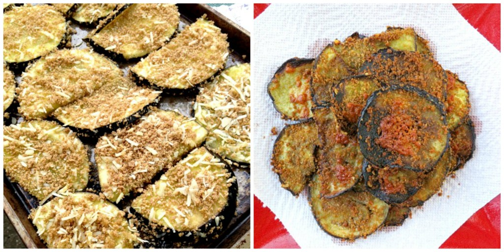 Eggplant Chips Collage