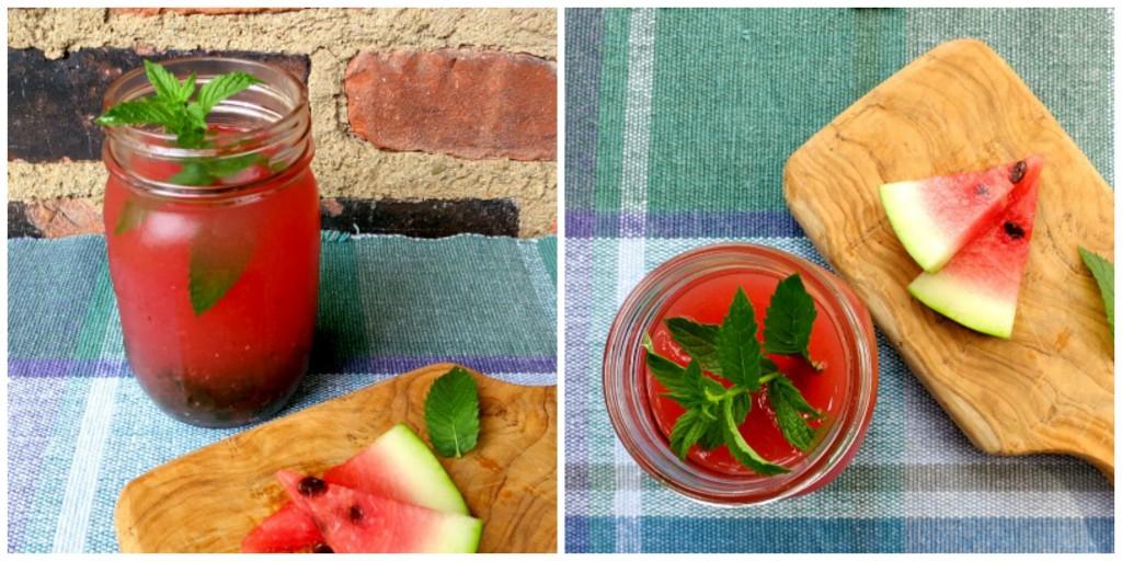 Watermelon Mojitos Collage