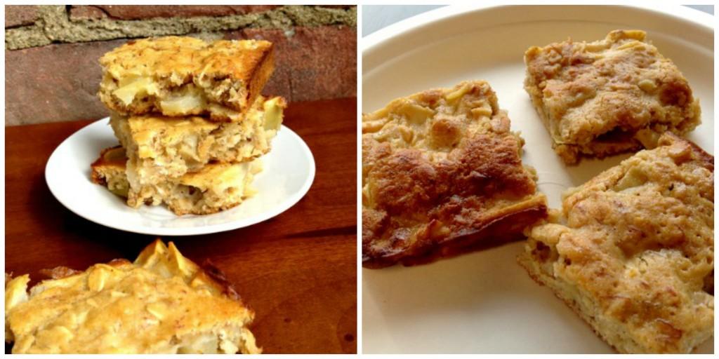Apple Honey Oat Cake Collage