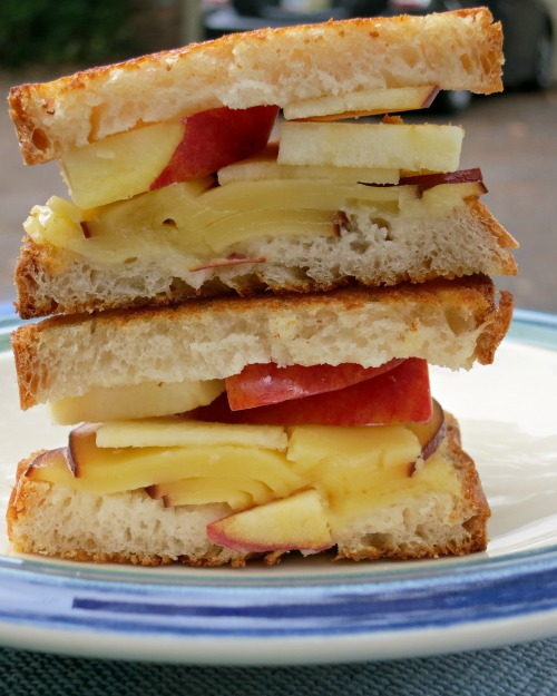 Apple & Smoked Gouda Grilled Cheese on Sourdough Bread