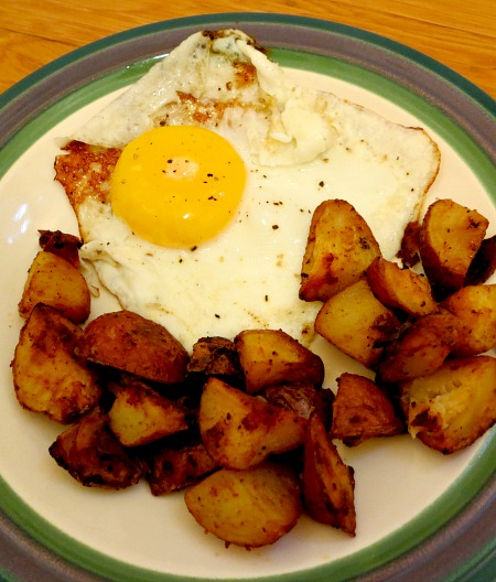 Fried Eggs and Roasted Potatoes