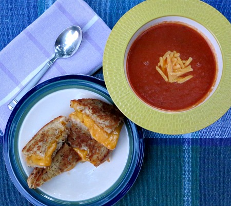 Grilled Cheese and Tomato Basil Soup