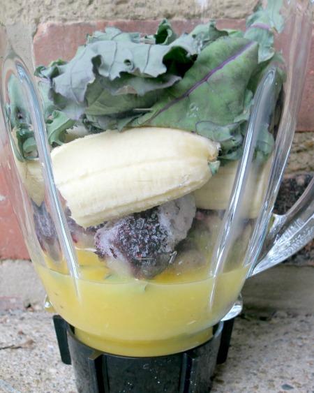 Kale, Blueberry and Banana SmoothieB
