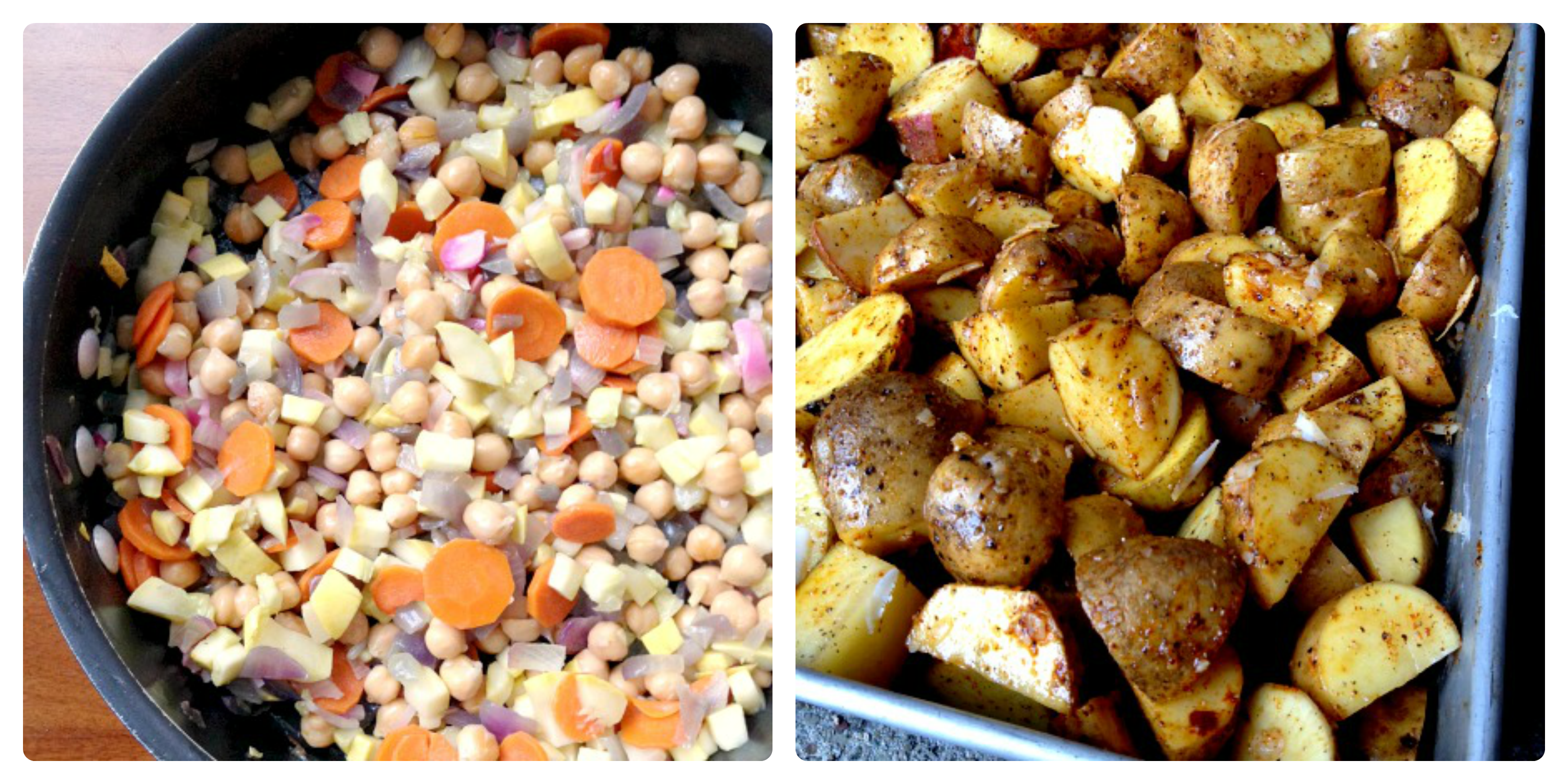 Veggie Curry and Roasted Potato Prep