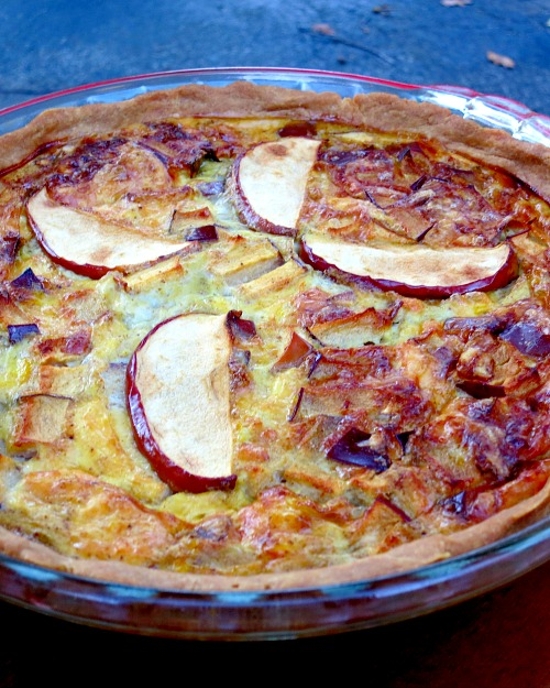 Apple Gouda Quiche