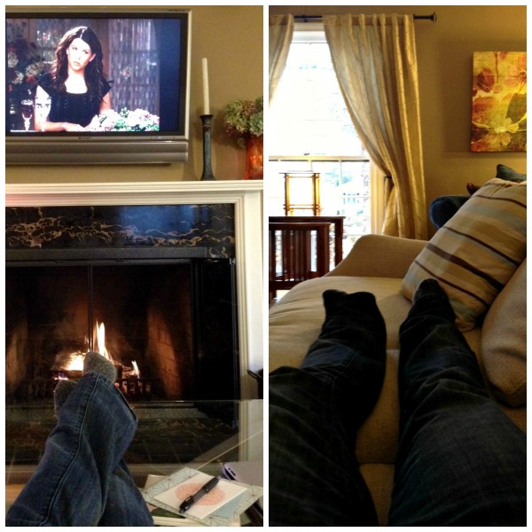 Fireplace & TV Watching Collage