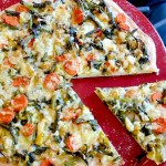 Vegetable Pizza with Bok Choy, Carrots & Green Beans