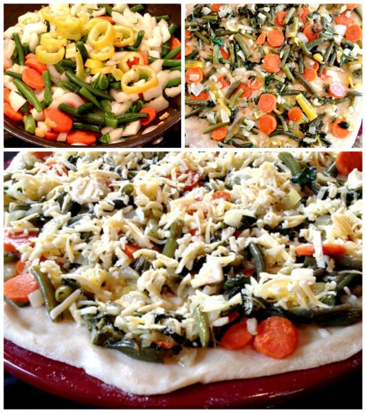 Veggie Pizza Collage