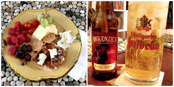 Snack Plate & Cider Collage