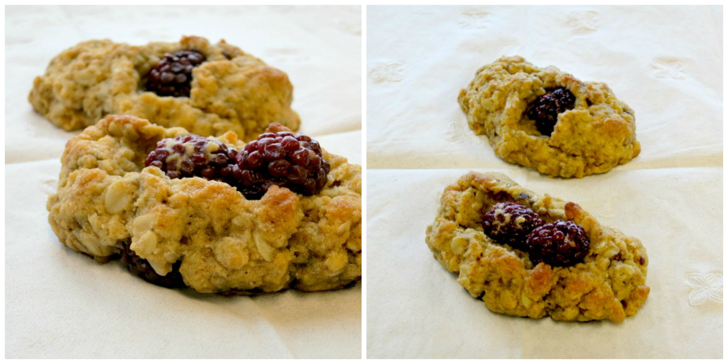 Blackberry Oat Scones Collage