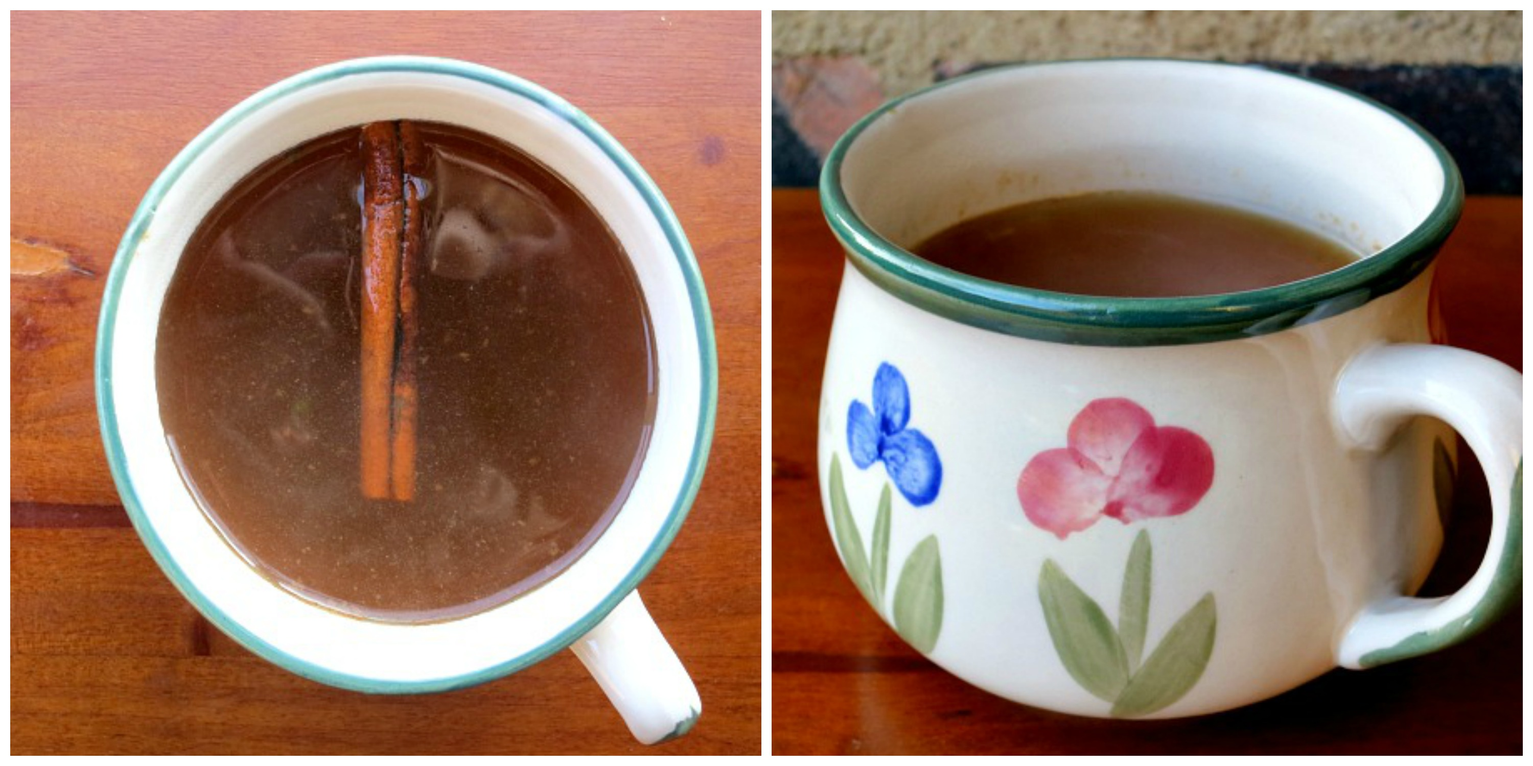Hot Apple Cider with Cinnamon Collage