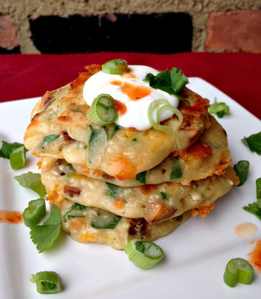 Sweet Potato Cheddar Pancake 2
