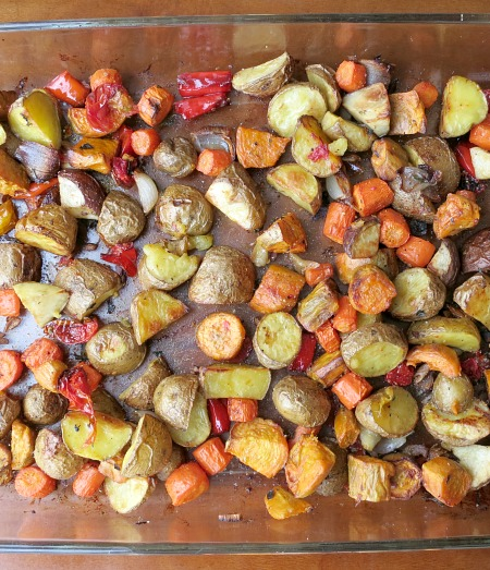 Roasted Vegetables Cooked