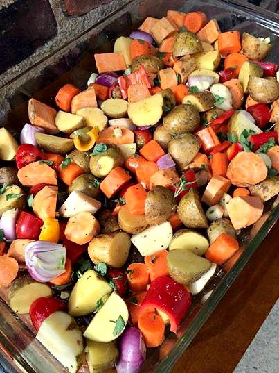 Easy roasted root vegetable recipe