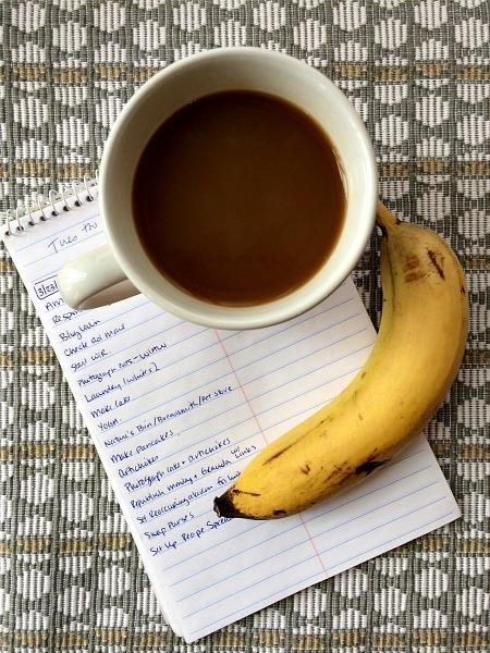 Coffee, List, Bananas