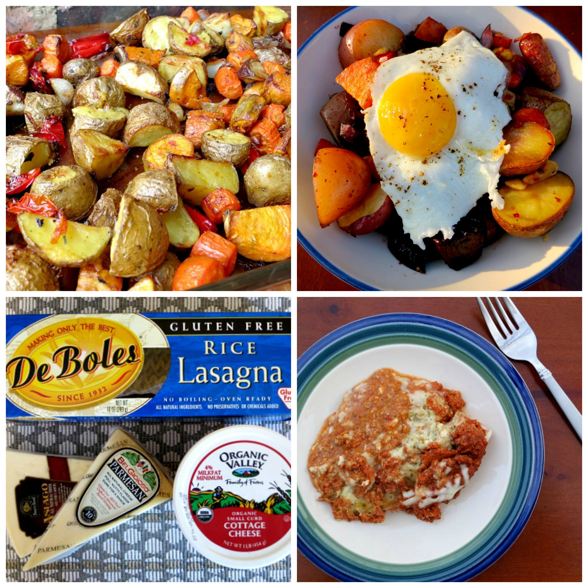 Dinner Options Collage