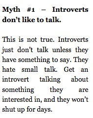 Introverts and Talking