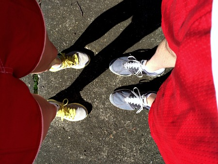 Running with Hubby