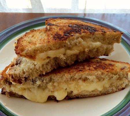 Grilled Cheese with Granola Bread and Farmers Market Cheese