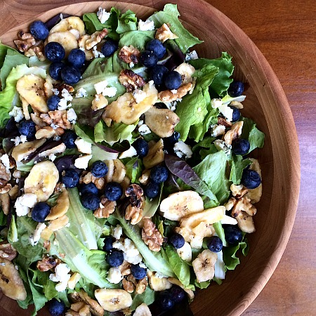 Blueberry, Banana Chip, Blue Cheese, Toasted Walnut Salad