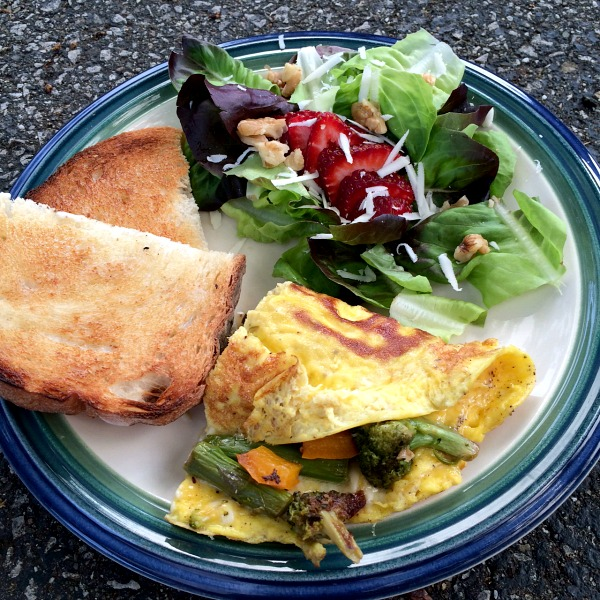 Sauteed Vegetable Omelet