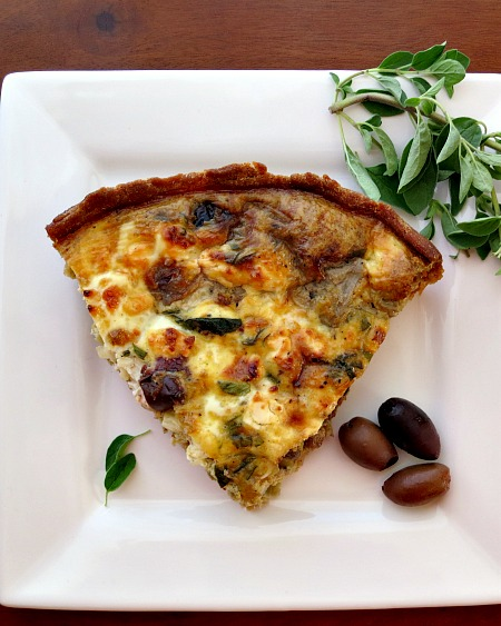 The Greek Quiche with Kalamata Olives, Feta and Oregano
