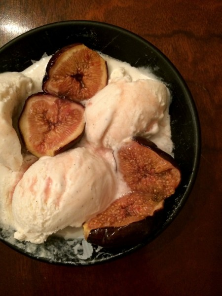 Honey Roasted Figs and Vanilla Ice Cream
