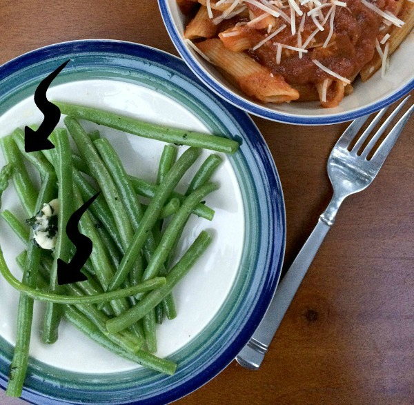 Asparagus Amongst The Green Beans