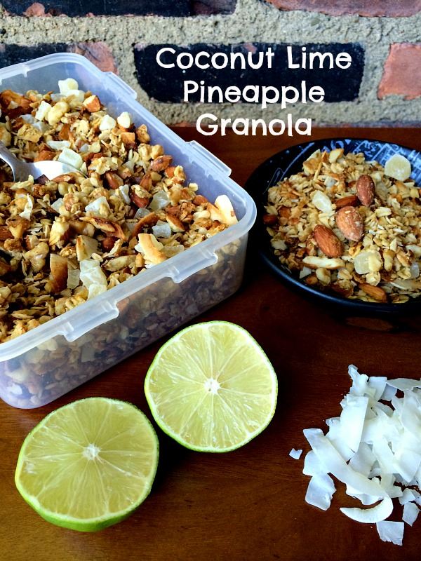 Coconut Lime Pineapple Granola