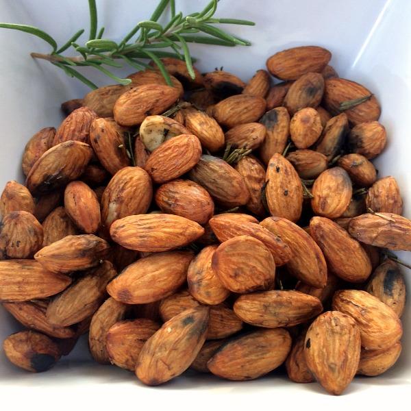 Balsamic Rosemary Sea Salt Roasted Almonds