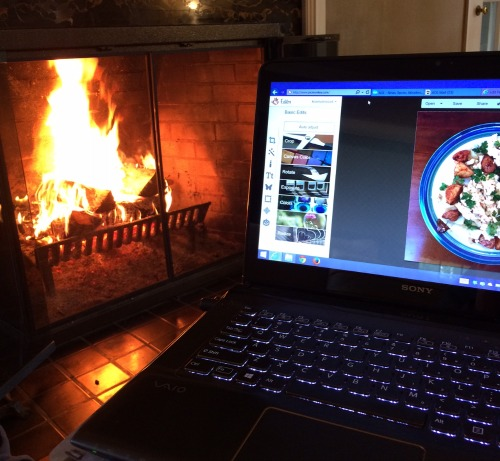 Fireplace and Photo Editing