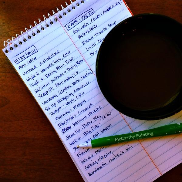 Saturday Morning List