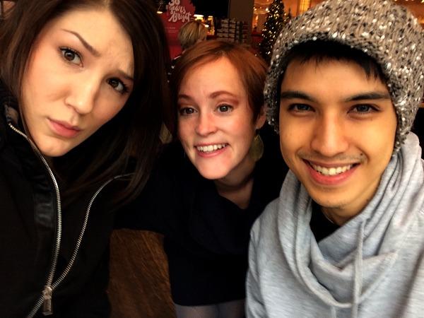 Amanda, Meg and Arman