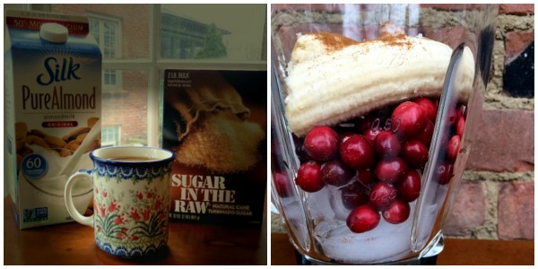 Beverage Breakfast - Coffee and Coconut Cranberry Smoothie
